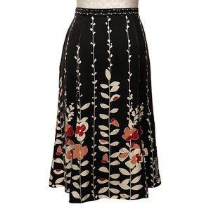 Talbots Pure Silk Floral Midi Skirt